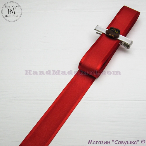 Silk ribbon with a satin edge 3 cm width colour 50-red