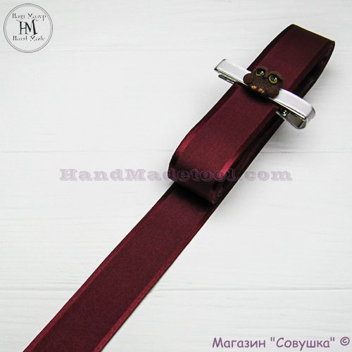Silk ribbon with a satin edge 3 cm width, colour 54-burgundy.