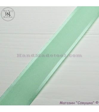 Silk ribbon with a satin edge 3 cm width colour 62-lime