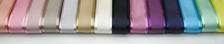 Silk ribbon with a satin  edge