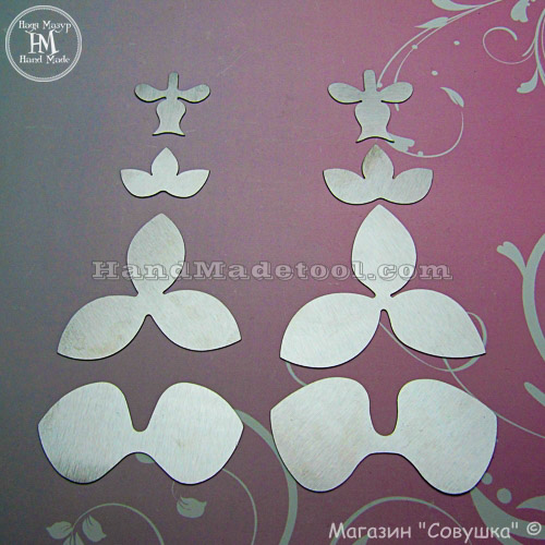 Art.104. Orchid Flower Template.