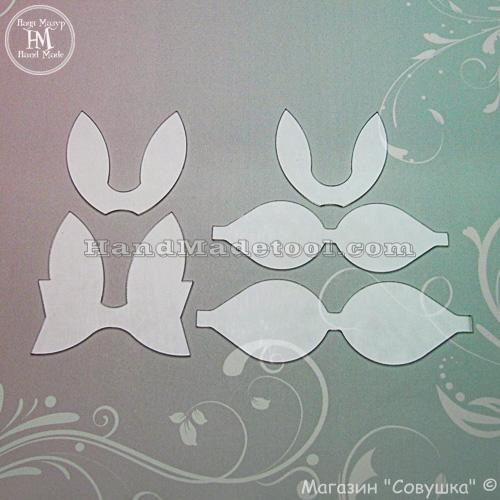 "Art 580 Set of templates ""Bunny"""