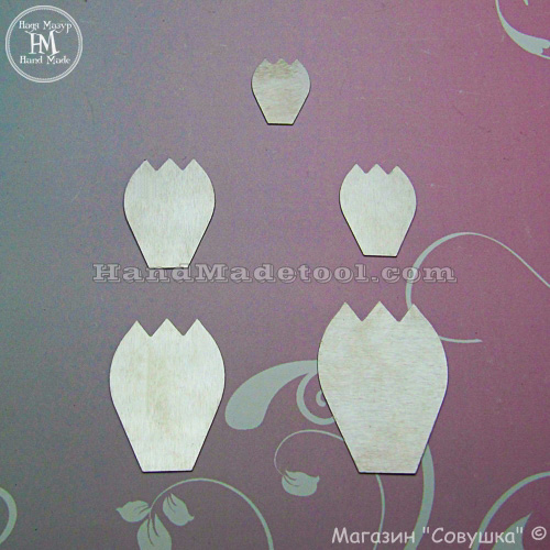 Art.73. Petal Template (Tulip).
